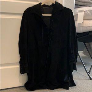 Prada genuine suede long sleeve dress